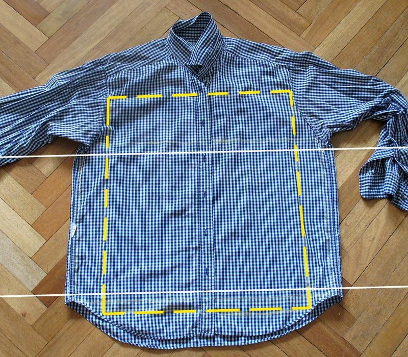 Как из старых рубашек сшить наволочки