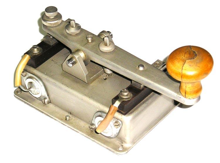 Телеграфный ключ Из комплекта ленточного аппарата Морзе ТИП-2