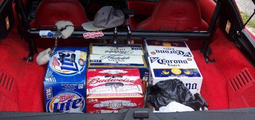 Пиво в багажнике